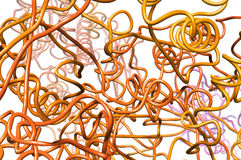 Tangle of metallic wire Stock Photos
