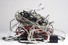 Tangle Of Plugs Stock Image