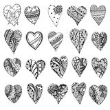 Tangle Patterns style hearts Stock Photos