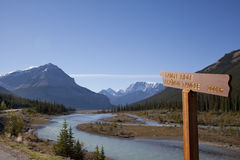 Tangle ridge in canadian rockies alberta Royalty Free Stock Image