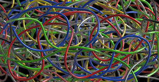 Tangled cables Royalty Free Stock Photo