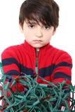 Tangled Christmas Lights Stock Photo