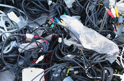 Tangled Data Cables Stock Image