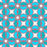 Tangled Eastern Pattern. Traditional moorish tangled pattern. Seamless vector background. Plain colors - easy to recolor Stock Image