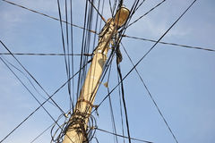 Tangled electric wires Royalty Free Stock Images