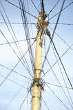 Tangled electric wires Royalty Free Stock Photo