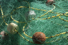 Tangled fishing net Stock Photography