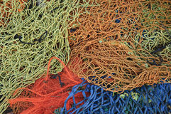 Tangled fishing nets Royalty Free Stock Photo