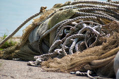 Tangled fishing nets Royalty Free Stock Image