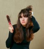 Tangled hair Royalty Free Stock Image