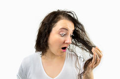Tangled hair Royalty Free Stock Images