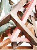 Tangled knot of paper puzzle Royalty Free Stock Photography