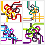 Tangled lines Stock Photography