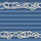 Tangled marine ropes borders for text Royalty Free Stock Photos