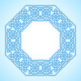 Tangled Pattern based on traditional arabic. Tangled modern pattern, based on traditional oriental patterns. Seamless vector background. Two colors - easy to royalty free illustration