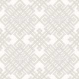 Tangled Pattern. Tangled modern pattern, based on traditional oriental patterns. Seamless vector background. Two colors - easy to recolor Royalty Free Stock Image