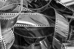 Tangled pile of photographic film Royalty Free Stock Images