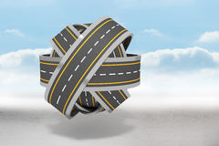 Tangled roads in a ball Royalty Free Stock Photography