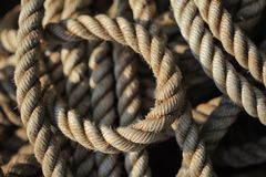 Tangled rope closeup Royalty Free Stock Photo