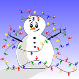 Tangled Snowman Stock Images