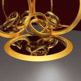 Tangled wedding rings between mirrors Royalty Free Stock Photo