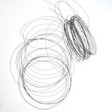 Tangled wire, abstract. Stock Photography