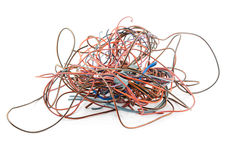 Tangled wire isolated Stock Photos
