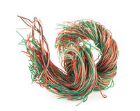Tangled wire Royalty Free Stock Images