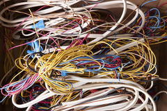 Tangled Wires Stock Photography