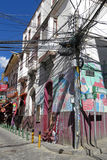 Tangled wires in La Paz, Bolivia Stock Image