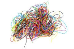 Tangled wires. Royalty Free Stock Photography