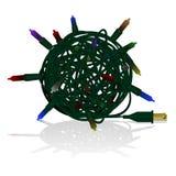 Tangled Xmas lights Royalty Free Stock Photo