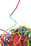 Tangled yarn Royalty Free Stock Photo