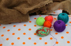 Tangles of colored thread Royalty Free Stock Photos