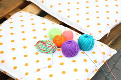 Tangles of colored thread Royalty Free Stock Image