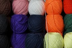 Tangles of multi-colored yarn royalty free stock photography