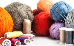 Tangles multicolored yarn and thread Royalty Free Stock Images