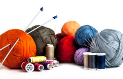 Tangles multicolored yarn and thread Stock Images
