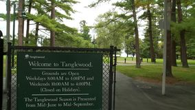 Tanglewood Grounds (1 of 7). A view or scene of Music & Arts stock video footage