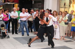 Tango 2008. Tango dancing in buenos aires street argentina 2008 Royalty Free Stock Image