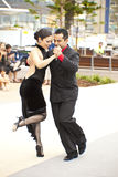 Tango. GOLD COAST - AUSTRALIA - 18 MARCH: Unidentified pair dancing tango on Japan & Friends Day festival. 18 March 2012 on Gold Coast, Australia. Street dancers Stock Photo