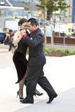 Tango. GOLD COAST - AUSTRALIA - 18 MARCH: Unidentified pair dancing tango on Japan & Friends Day festival. 18 March 2012 on Gold Coast, Australia. Street dancers Royalty Free Stock Photos