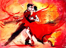 tango royaltyfri illustrationer