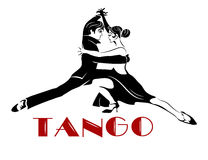 Tango apaixonado de Argentina ilustração stock