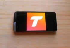 Tango app op mobiele telefoon stock afbeelding