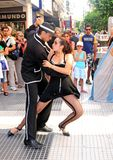 Tango argentino. Tango dancing in buenos aires street argentina 2008 Royalty Free Stock Photography