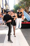 Tango argentino. Tango dancing in buenos aires street argentina 2008 royalty free stock photos