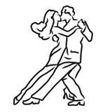 Tango Argentino Dancer Sketch Stock Photo