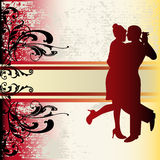 Tango Background. Background illustration with a couple ballroom dancing Stock Images