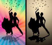 Tango couple. Couple dancing tango on stage stock illustration